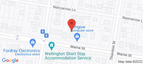 Location map for 98 Warne Street Wellington