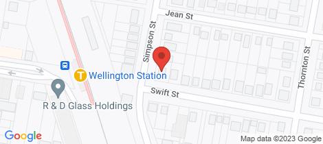 Location map for 72 Swift Street Wellington