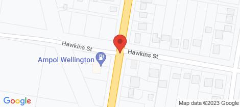 Location map for 143 Arthur Street Wellington