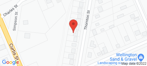 Location map for 171 Thornton Street Wellington