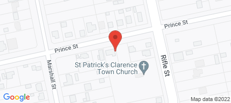 Location map for 90 Prince Street Clarence Town