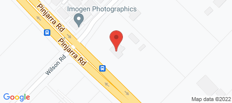 Location map for 41 Wilson Road Pinjarra