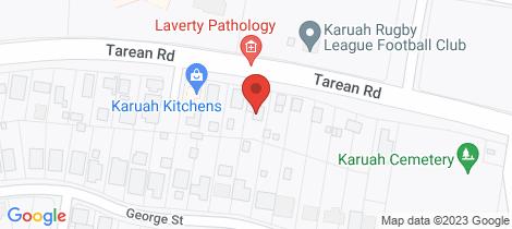 Location map for 368 Tarean Road Karuah