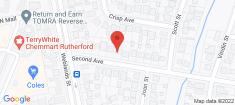 Location map for 63 Second Avenue Rutherford