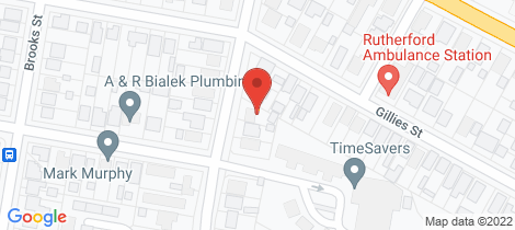 Location map for 121 South Street Rutherford