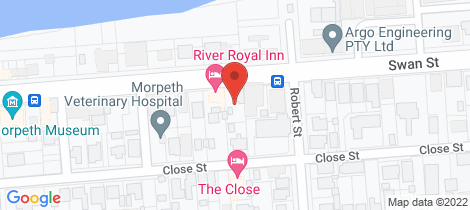 Location map for 95 Swan Street Morpeth
