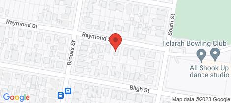 Location map for 6 Raymond Street Telarah