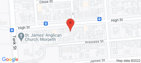 Location map for 113 High Street Morpeth