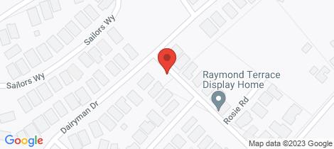 Location map for 21 Harold Road Raymond Terrace