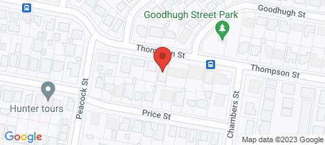 Location map for 73 Thompson Street East Maitland