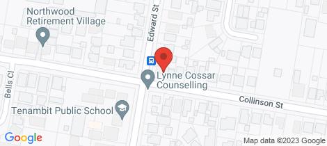 Location map for 17 Edward Street Tenambit