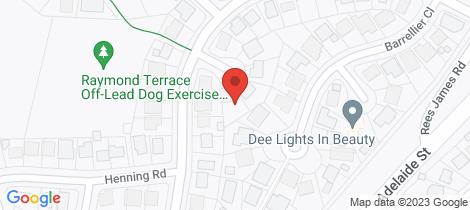Location map for 2 Henderson Close Raymond Terrace