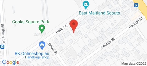 Location map for 1/20 Park Street East Maitland