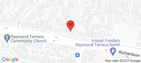 Location map for 3/35 Richardson Road Raymond Terrace