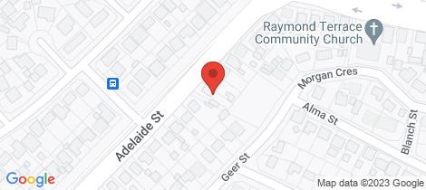 Location map for 31 Adelaide Street Raymond Terrace