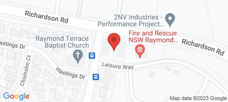 Location map for 5/5 Benjamin Lee Drive Raymond Terrace
