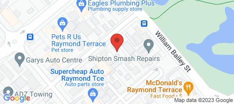 Location map for 7 CARMICHAEL STREET Raymond Terrace
