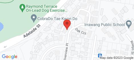 Location map for 1/3 Oak Circuit Raymond Terrace