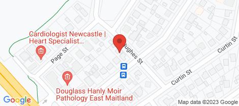 Location map for 3B Hughes Street East Maitland