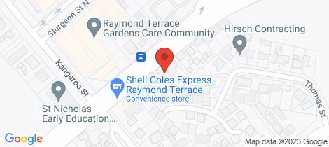 Location map for 1/99 Adelaide Street Raymond Terrace