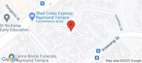 Location map for 26/22 Thomas Street Raymond Terrace