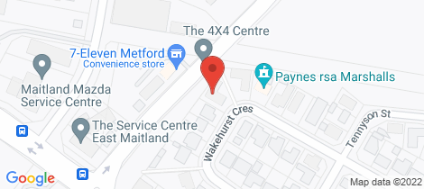 Location map for 2/24 Wakehurst Crescent Metford