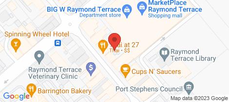 Location map for 1/31 William Street Raymond Terrace