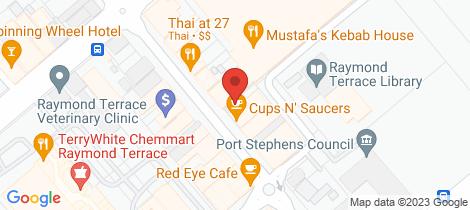 Location map for 41 William Street Raymond Terrace