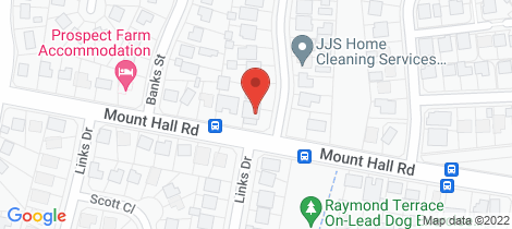 Location map for 1 SALAMANDER PLACE Raymond Terrace