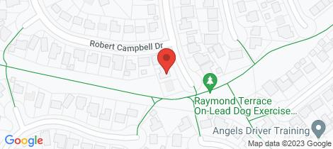 Location map for 14 Macquarie Close Raymond Terrace