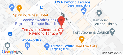 Location map for 4/24 william street Raymond Terrace