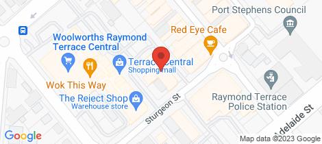 Location map for 3/26 STURGEON St Raymond Terrace