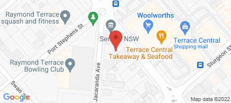 Location map for 7/1 Jacaranda Avenue Raymond Terrace