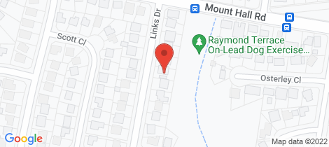 Location map for 70 Links Drive Raymond Terrace
