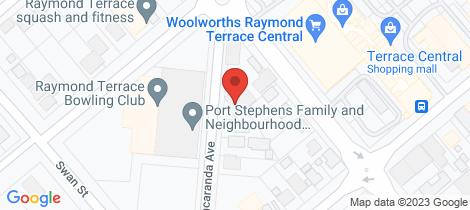 Location map for 7/1 Jacaranda Avenue Raymond Terrace