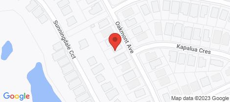 Location map for 20 Oakmont Avenue Medowie