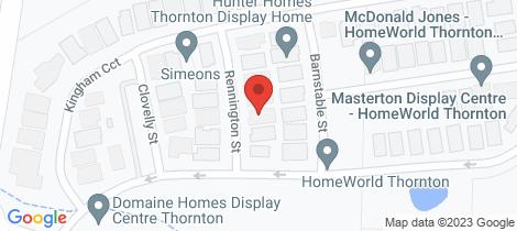 Location map for 6 Rennington Street Thornton