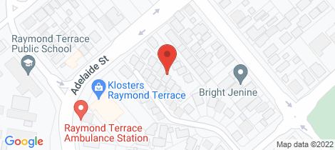 Location map for 8/179 Adelaide Street Raymond Terrace