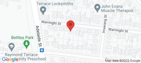 Location map for 15 Warringhi Street Raymond Terrace