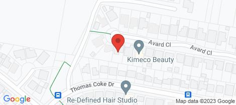 Location map for 32 Avard Close Thornton