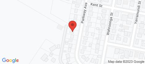 Location map for 38 Parkway Av Raymond Terrace