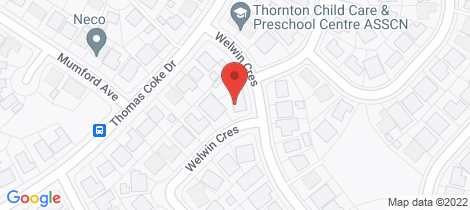 Location map for 5 Welwin Crescent Thornton