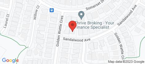 Location map for 32 Sandalwood Avenue Thornton