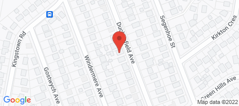 Location map for 22 Duckenfield Avenue Woodberry