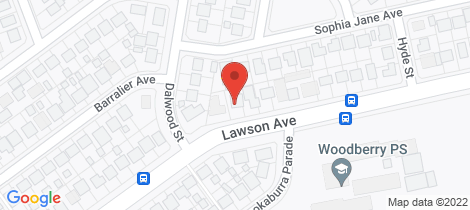 Location map for 100 Lawson Avenue Woodberry