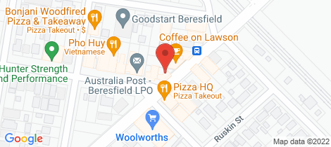 Location map for 7 Beresford Avenue Beresfield
