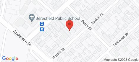 Location map for 5/55 Ruskin Street Beresfield