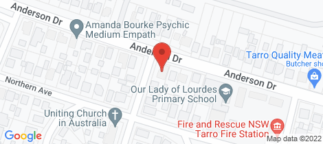 Location map for 58 Anderson Drive Tarro