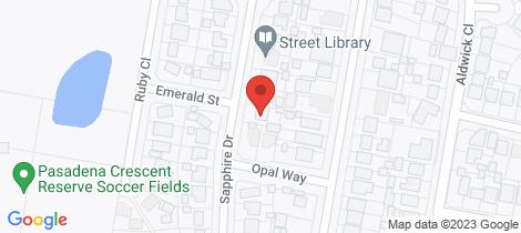 Location map for 19 Sapphire Drive Tarro