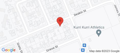 Location map for 4 Deakin Street Kurri Kurri